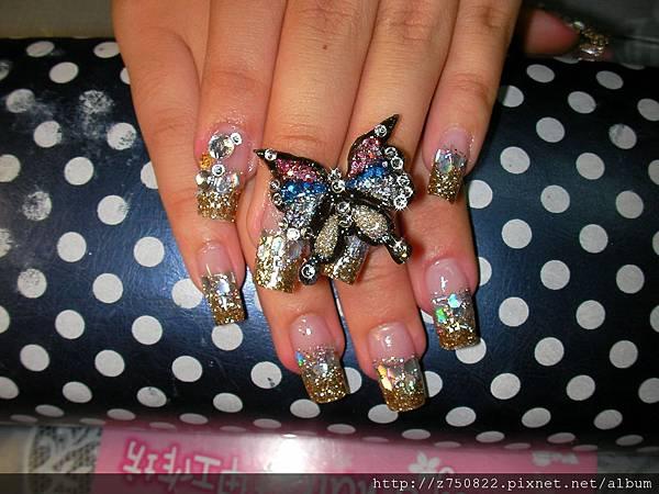 婚紗照~水晶指甲