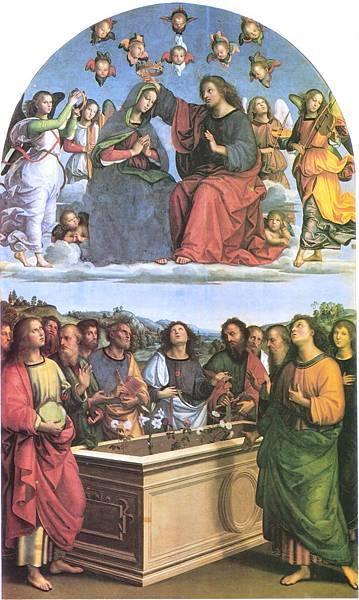 22.44梵諦岡畫廊-第8室 拉菲爾4 聖母加冕圖(圖片來源:維基).jpg