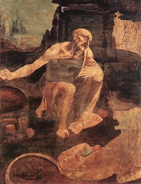 22.46梵諦岡畫廊-第9室 達文西未完成的《聖傑洛姆》(圖片來源:維基).jpg