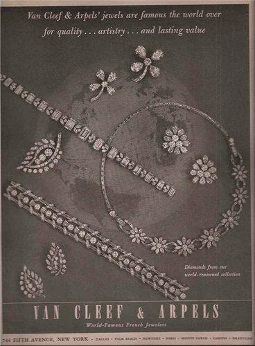 Van Cleef & Arpels 梵克雅寶 1954 年廣告。