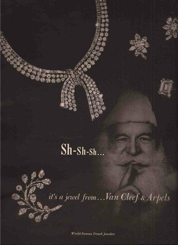 Van Cleef & Arpels 梵克雅寶 1957 年廣告。