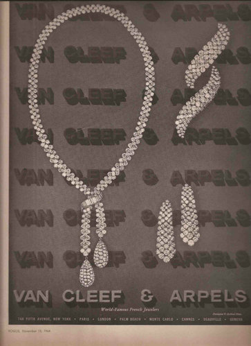 Van Cleef & Arpels 梵克雅寶 1964年廣告
