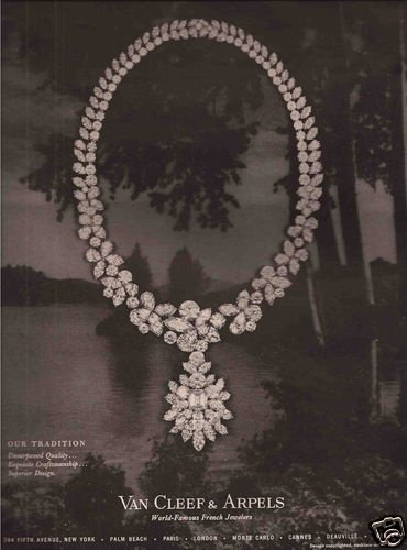 Van Cleef & Arpels 梵克雅寶 1962年廣告。
