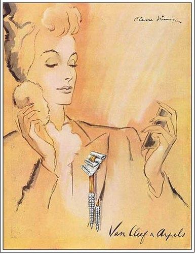 Van Cleef & Arpels 梵克雅寶 1943 年廣告。