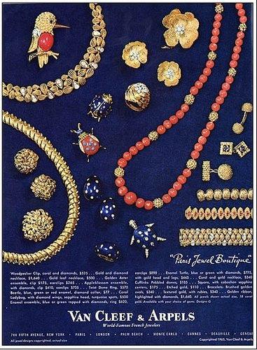 Van Cleef & Arpels 梵克雅寶 1965年廣告。