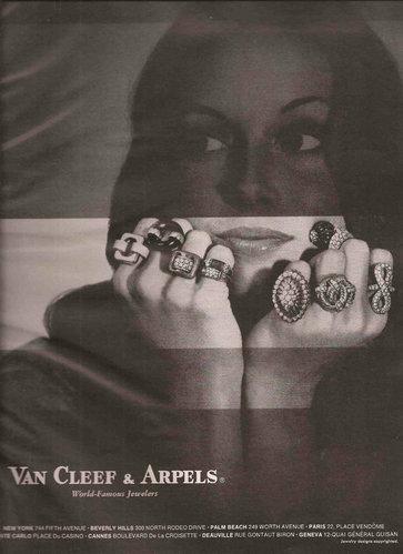 Van Cleef & Arpels 梵克雅寶 1971 年廣告。