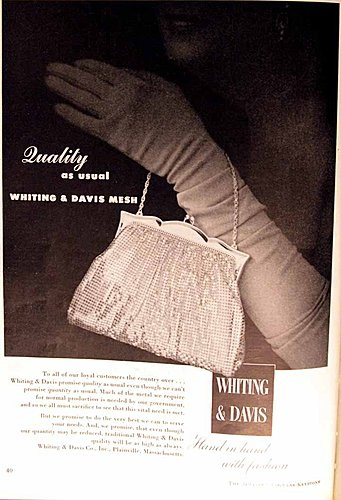 Whiting & Davis Advertisement Jeweler's Circular Keystone 1951
