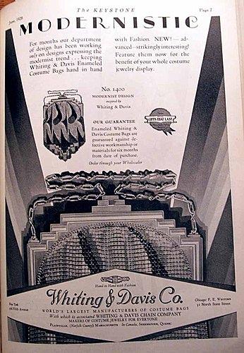 Whiting & Davis Advertisement in Keystone June, 1928