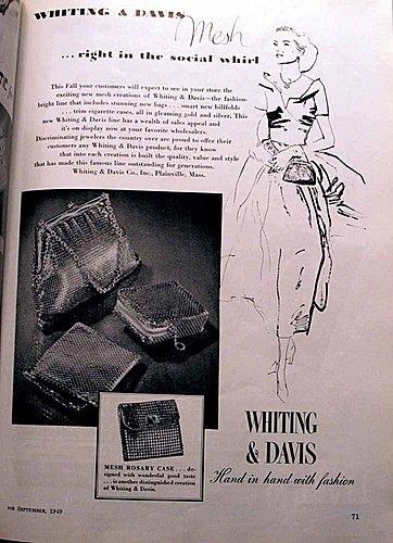 Whiting & Davis Advertisement Jeweler's Circular Keystone September 1949