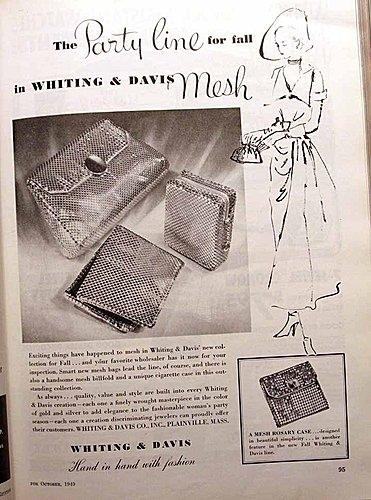 Whiting & Davis Advertisement Jeweler's Circular Keystone October 1949