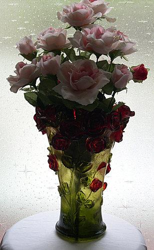 賽璐璐玫瑰花瓶 2