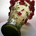 賽璐璐玫瑰花瓶 3
