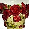 賽璐璐玫瑰花瓶 4