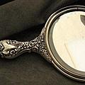 百年歲月UB(Unger Brothers)天使雕刻純銀手鏡 2
