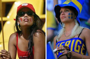 左為千里達  右為瑞典