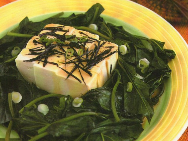 涼拌豆腐地瓜葉