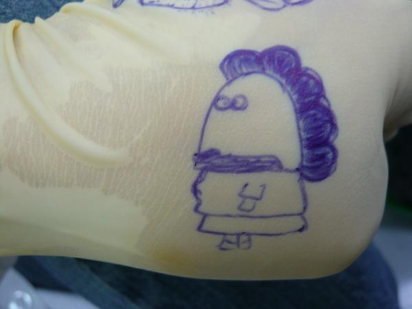 康宜兔畫花媽