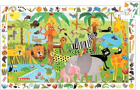 puzzle-observation-djeco-35-pieces-jungle