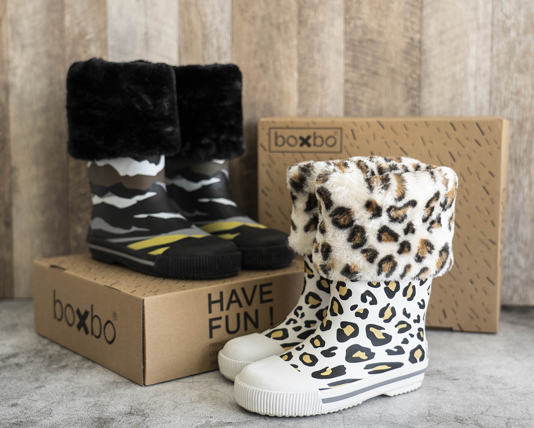 Boxbo 愛時尚 冬天雨靴