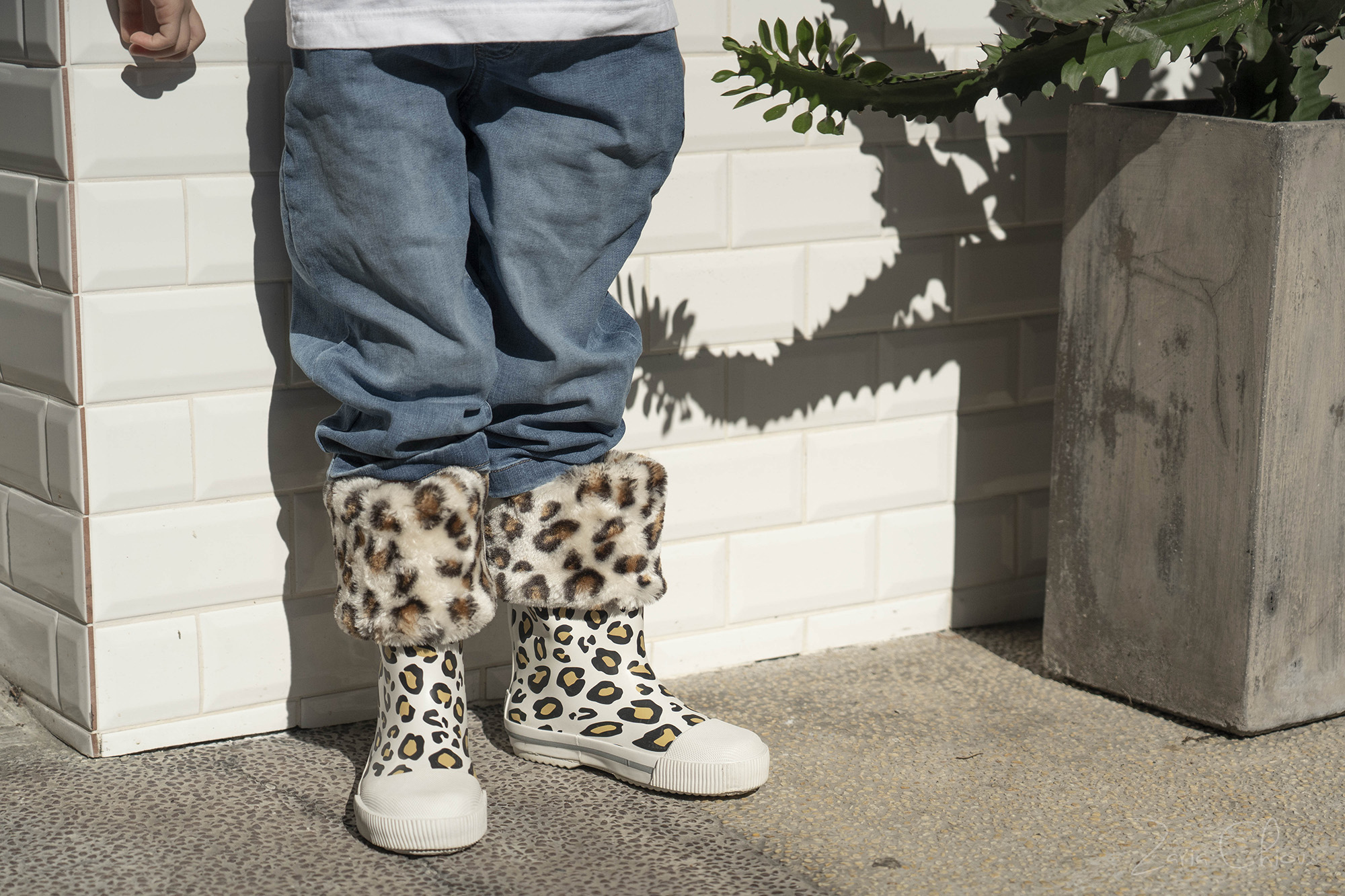 Boxbo雨靴 豹紋白