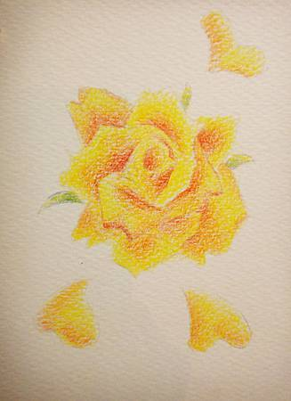 先在水彩紙上上一層水性色鉛筆.JPG