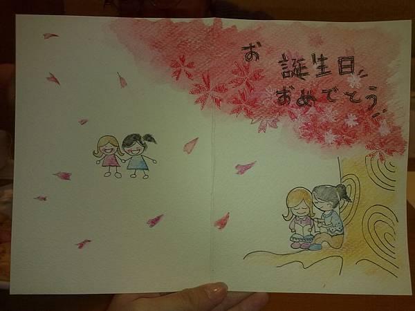 學生親手繪製卡片成品