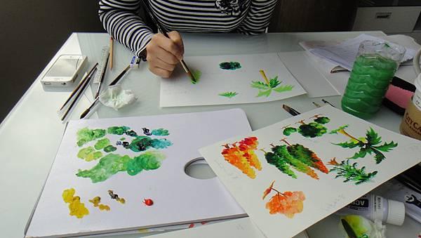 學生樹的畫法練習(2)