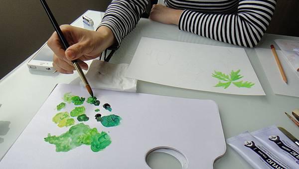學生樹的畫法練習(1)