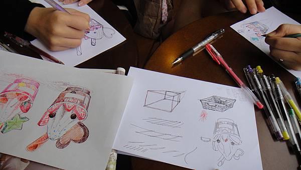 學生甜品畫法練習