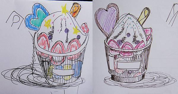 學生甜品畫法練習成品