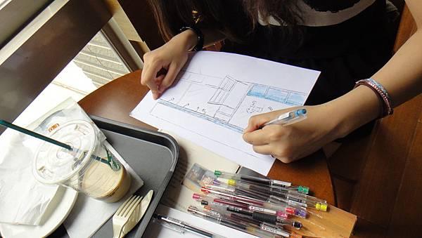學生街景畫練習(1)