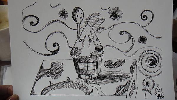 學生鋼珠筆甜品創意畫(1)
