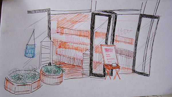 學生街景畫練習(4)