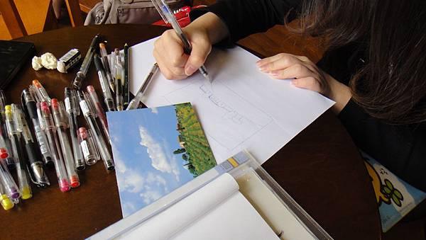 學生街景畫練習(5)