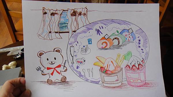 學生鋼珠筆甜品創意畫(2)