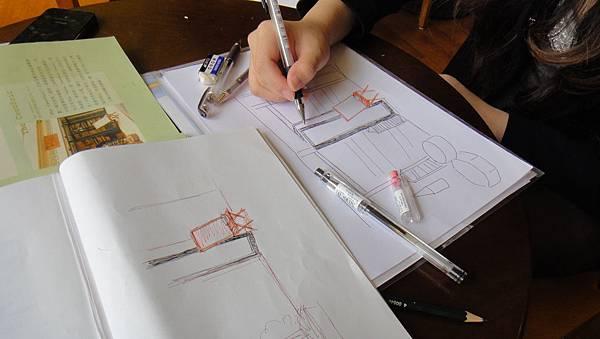 學生街景畫練習(3)