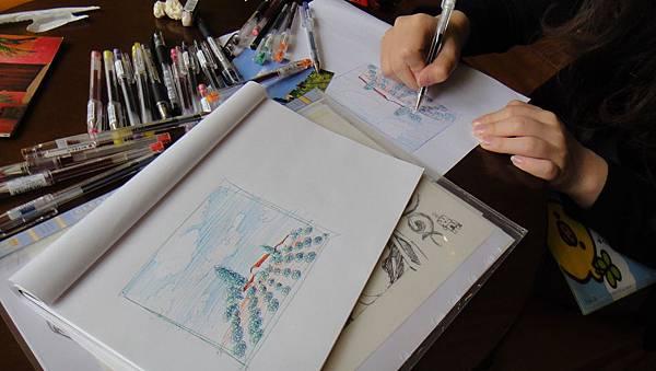 學生街景畫練習(6)
