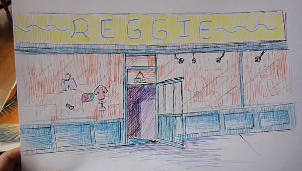 學生街景畫練習(2)