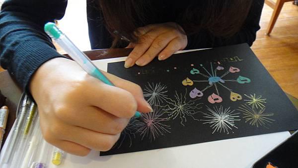 學成鋼珠筆繽紛夜景練習(2)