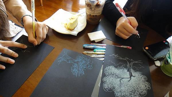 學生鋼珠筆單色樹練習(1)