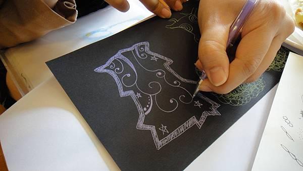 學生鋼珠筆仿版畫練習(2)