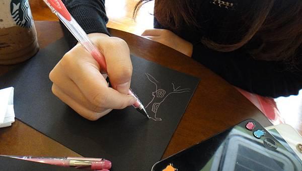 學生鋼珠筆單色樹練習(2)