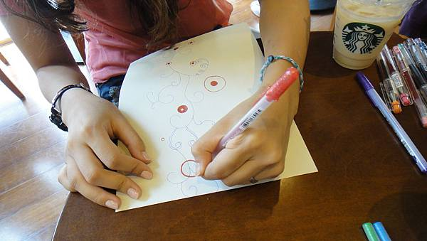 》學生包裝紙設計實作(3)水性鋼珠筆