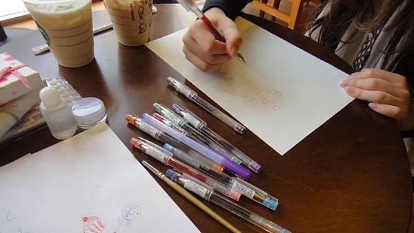 》學生包裝紙設計實作(1)水性鋼珠筆