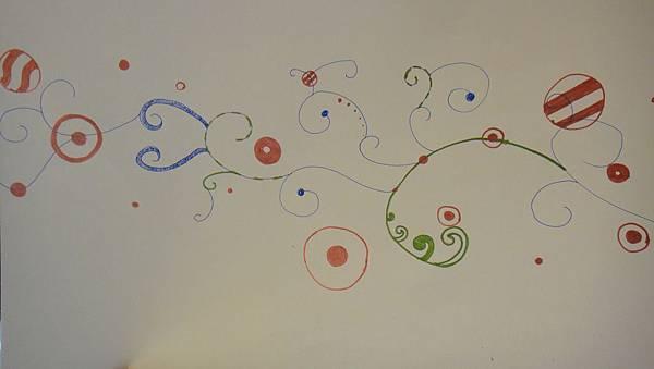 》學生包裝紙設計實作(4)水性鋼珠筆