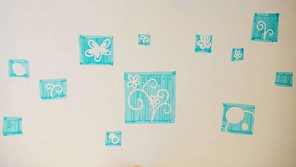 》學生包裝紙設計實作(2)螢光筆擦畫