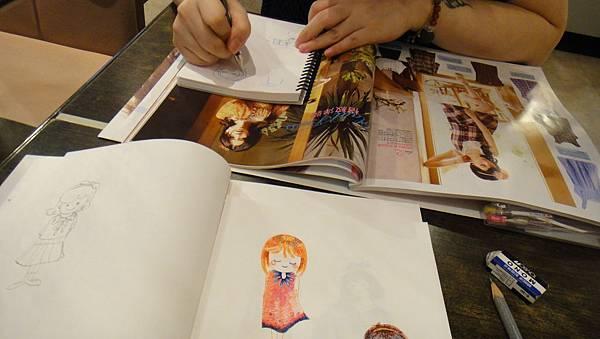 》學生鋼珠筆畫_人物畫法練習(2)