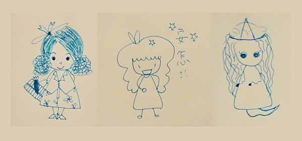 》學生鋼珠筆畫_人物畫法練習(4)