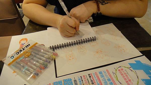 》學生鋼珠筆畫_人物畫法練習(1)