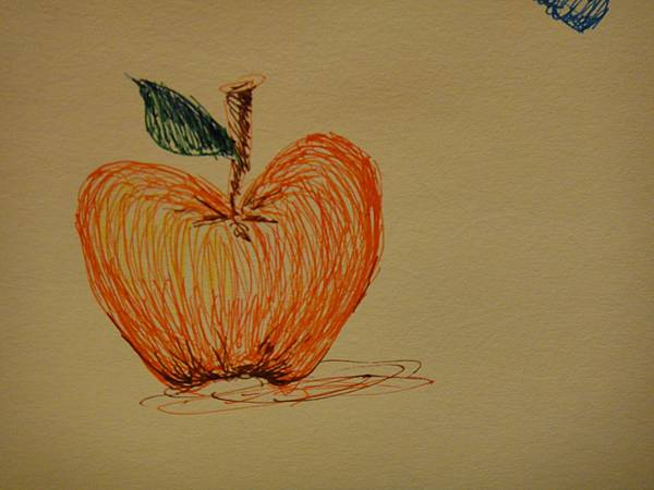 學生鋼珠筆上色畫法練習(6)